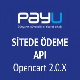 Opencart 2 PayU Sitede Ödeme v-2 (PayU API)